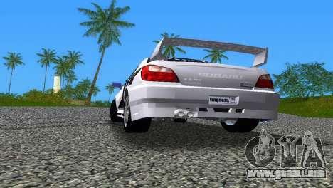 Subaru Impreza WRX v1.1 para GTA Vice City vista desde abajo