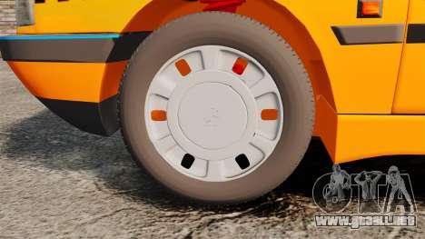 Peugeot 405 GLX Taxi para GTA 4 vista hacia atrás