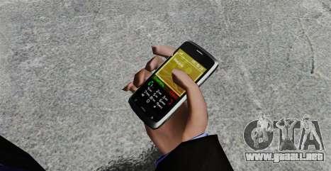 Comunicador ZTE Blade para GTA 4 segundos de pantalla