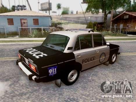 Policía de Los Santos 2106 VAZ para las ruedas de GTA San Andreas