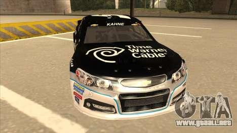 Chevrolet SS NASCAR No. 5 Time Warner Cable para GTA San Andreas left