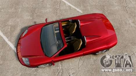 Turismo Spider para GTA 4 Vista posterior izquierda