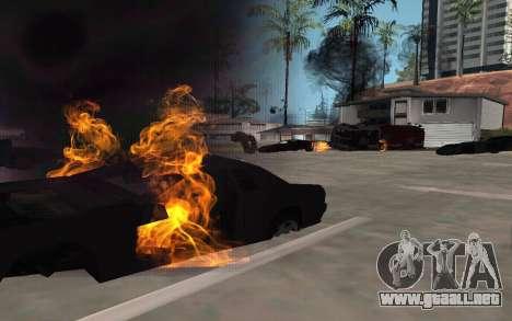GTA V to SA: Realistic Effects v2.0 para GTA San Andreas segunda pantalla