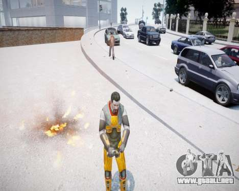 Gordon Freeman para GTA 4 segundos de pantalla