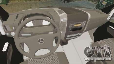 Mercedes-Benz Sprinter Zagreb Ambulance [ELS] para GTA 4 vista hacia atrás