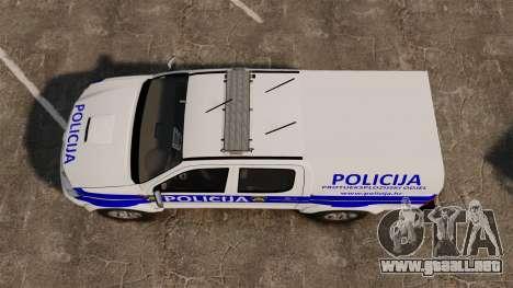 Toyota Hilux Croatian Police v2.0 [ELS] para GTA 4 visión correcta