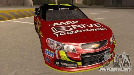 Chevrolet SS NASCAR No. 24 AARP para GTA San Andreas left