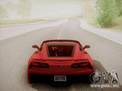 Chevrolet Corvette C7 Stingray 2014 para vista lateral GTA San Andreas