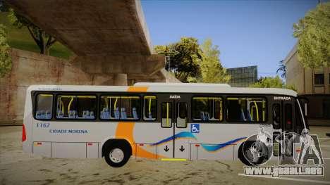 Marcopolo Senior Midi MB OF 1418 Cidade Morena para GTA San Andreas vista posterior izquierda
