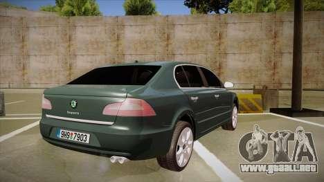 Skoda SuperB 2009 para la visión correcta GTA San Andreas