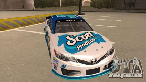 Toyota Camry NASCAR No. 47 Scott para GTA San Andreas left