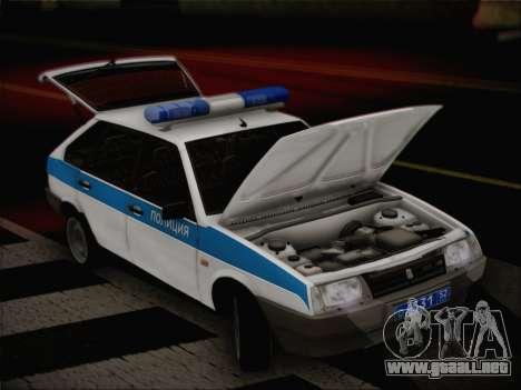 VAZ 2109 PPP para GTA San Andreas vista hacia atrás