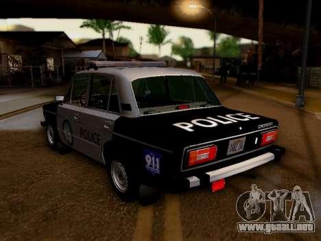 Policía de Los Santos 2106 VAZ para GTA San Andreas vista posterior izquierda