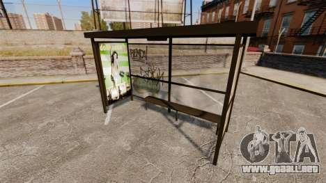 Publicidad real en las paradas de autobús para GTA 4 adelante de pantalla