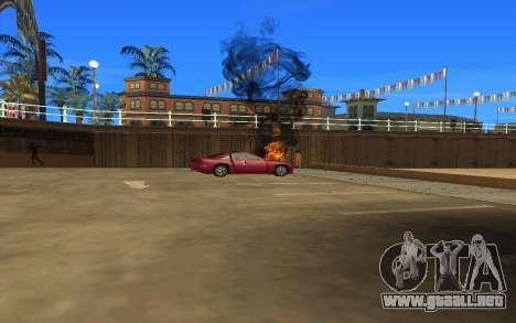 GTA V to SA: Realistic Effects v2.0 para GTA San Andreas sucesivamente de pantalla