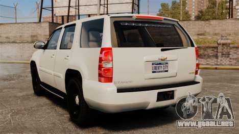 Chevrolet Tahoe Slicktop [ELS] v1 para GTA 4 Vista posterior izquierda