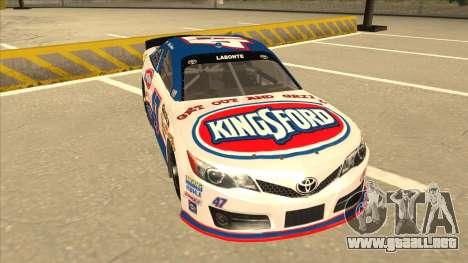 Toyota Camry NASCAR No. 47 Kingsford para GTA San Andreas left