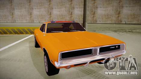 Dodge Charger 1969 (general lee) para GTA San Andreas left