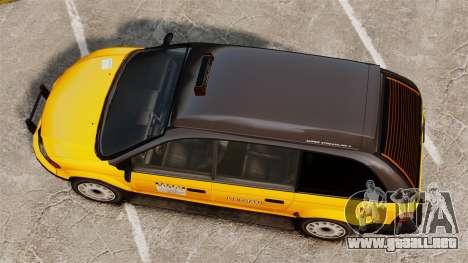 Taxi mejorada para GTA 4 visión correcta