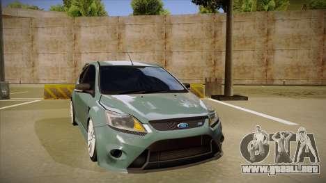 Ford Focus RS 2010 para GTA San Andreas left