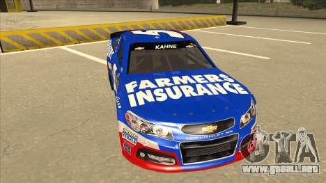 Chevrolet SS NASCAR No. 5 Farmers Insurance para GTA San Andreas left