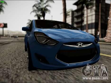 Hyundai ix20 para GTA San Andreas vista hacia atrás