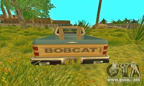 Armadura todoterreno Bobcat para GTA San Andreas vista hacia atrás