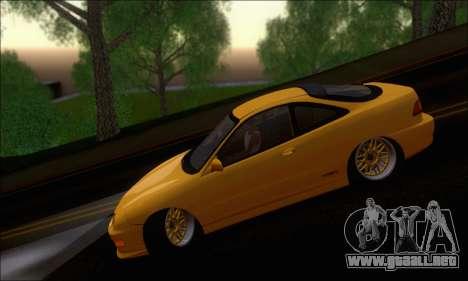 Honda Integra Type-R Hellaflush para GTA San Andreas vista hacia atrás