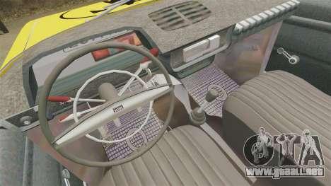 IZH-moskvitch 412 para GTA 4 vista hacia atrás