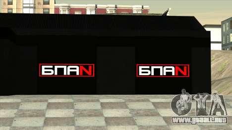 El garaje en Doherty BPAN para GTA San Andreas sucesivamente de pantalla