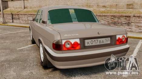 Volga GAZ-3110 Coupe para GTA 4 Vista posterior izquierda