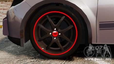 Volkswagen Gol Rally 2012 Socado Turbo para GTA 4 vista hacia atrás