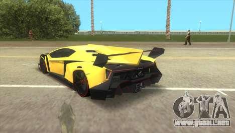 Lamborghini Veneno para GTA Vice City left