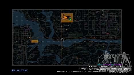 Mapa de plazas para GTA San Andreas