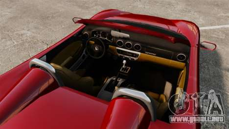 Turismo Spider para GTA 4 visión correcta