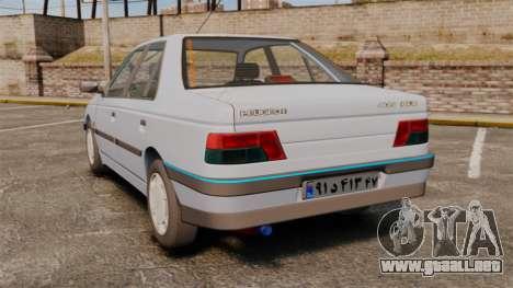 Peugeot 405 GLX Final para GTA 4 Vista posterior izquierda