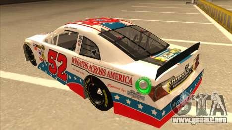 Toyota Camry NASCAR No. 52 TruckerFan para GTA San Andreas vista hacia atrás