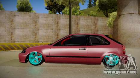 Honda Civic EK9 Drift Edition para GTA San Andreas vista posterior izquierda