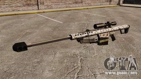 El francotirador Barrett M82 rifle v5 para GTA 4 tercera pantalla
