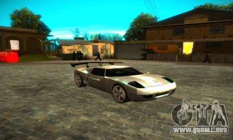 Bullet GT32 Big Spoiler para GTA San Andreas vista posterior izquierda