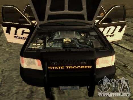 Ford Crown Victoria Police Interceptor para la visión correcta GTA San Andreas