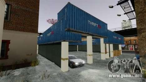 Garaje para GTA 4 adelante de pantalla