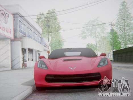 Chevrolet Corvette C7 Stingray 2014 para GTA San Andreas vista hacia atrás