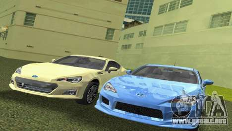 Subaru BRZ Type 3 para GTA Vice City left