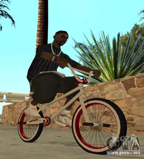 BMX para GTA San Andreas vista posterior izquierda