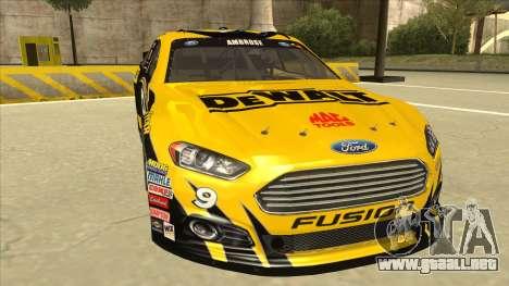 Ford Fusion NASCAR No. 9 Stanley DeWalt para GTA San Andreas left