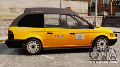 Taxi mejorada para GTA 4 left