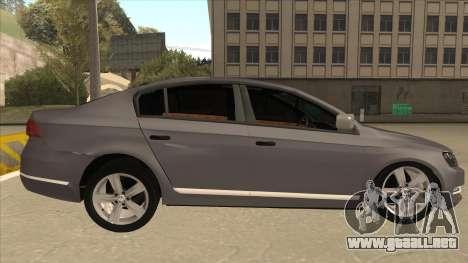 Volkswagen Passat 2.0 Turbo para GTA San Andreas vista posterior izquierda