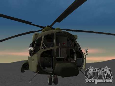 MI-8 para vista lateral GTA San Andreas