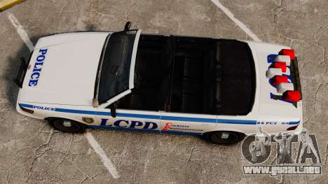 La versión convertible de la policía para GTA 4 visión correcta